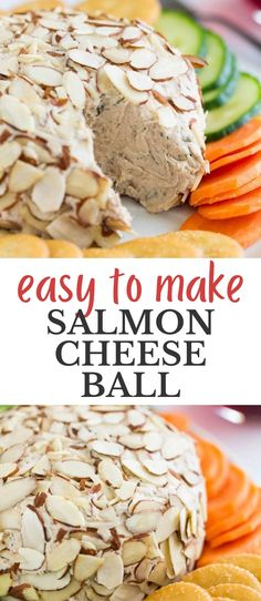 Ton of flavors and texture in this easy-to-make salmon cheese ball. Learn how I easily shape this into a ball and roll it in the almonds. (I know, it can be tricky!). This will be your guests party favorite appetizer or dip. Best Party Dip, Party Dips, Beer Cheese, Cheese Ball, Pickle Relish, Dip Recipes, Serving Platters, Almonds, Spicy