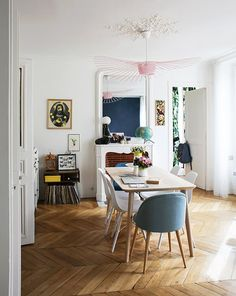Stylish Dining Space at Lisa, Paris 10ème | Inside Closet