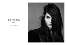 Amanda Wellsh joins forces with Balmain Paris Hair Couture! Amanda appears in the Fall/Winter 2015-2016 campaign by Nabil Harlow.