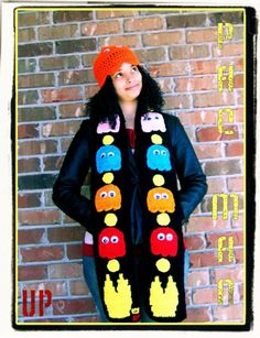 PAC-MAN Scarf from Etsy.com