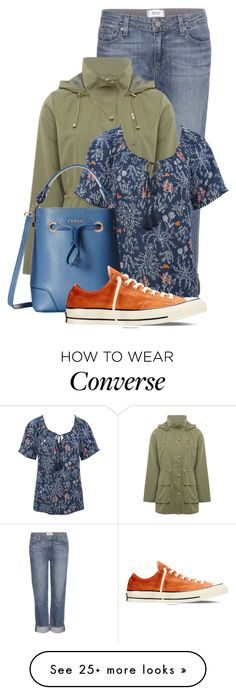 """""""Untitled #14329"""" by nanette-253 on Polyvore featuring Paige Denim, M&Co, Furla, Converse, women's clothing, women, female, woman, misses and juniors"""