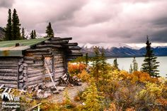 Trapper Cabin #1.An old abandoned cabin at Twin Lakes, Alaska, on a colorful autumn day. Photography by Joseph Classen.