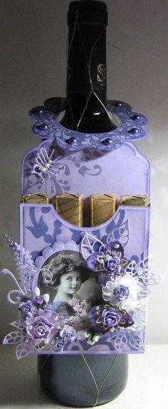 label - flessenhanger / doosje, om aan een fles te hangen, die je cadeau geeft