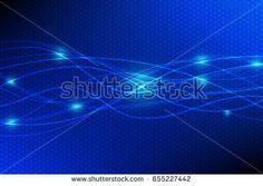 Blue Technology Curve Line on Hexagon Background Vector Illustration Vector Technology, Curved Lines, Neon Signs, Illustration, Blue, Image, Illustrations