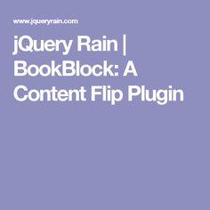 jQuery Rain | BookBlock: A Content Flip Plugin