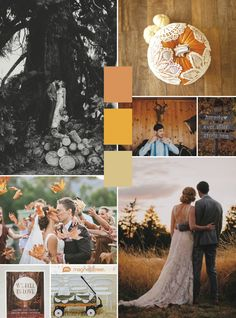 Pretty!  Fall wedding colors and inspiration + wedding program from MagnetStreet