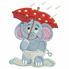 Baby Elephant Set, 13 Designs - 4x4 | What's New | Machine Embroidery Designs | SWAKembroidery.com