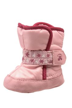 Pink Booties Crib Shoes Baby Soft Warm Baby Shower Puppy Design Booty Gift