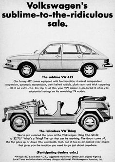 1975 Volkswagen Thing advertisement.  I love this car.