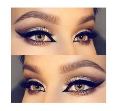 Gorgeous silver smokey eyes with winged eyeliner. Winter Makeup, Holiday Makeup, Huda Beauty, Beauty Makeup, Eye Makeup, Silver Smokey Eye, Huda Kattan, Makeup Tumblr, Too Much Makeup