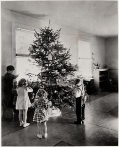 Nursery -- children decorating their Christmas tree. 1937. UHPC, University Archive, Archives and Special Collections, CSU, Fort Collins, CO