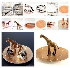 Prato com girafa | 25 maneiras inteligentes e legais de criar os seus próprios porta-joias