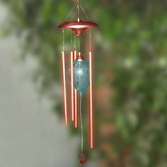 Have to have it. 26 Inch Solar Wind Chime with Acorn - Blue $34.99