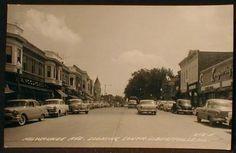 Libertyville, Illinois 1950's Milwaukee Avenue street scene