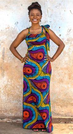 Kampala Fair Angelique Bow Dress (Maxi) 055-16