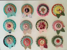 Craft Scrapbooking Embellishments flowers by Thepompouscardmaker