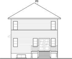 Contemporary Modern Rear Elevation of Plan 76327