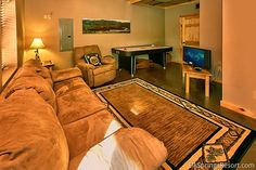 "The relaxing Den in the ""Deer to My Heart"" Cabin at Elk Springs Resort."