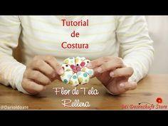 Tutorial #15 - Como hacer una Flor de tela rellena - How to make Fabric Flowers - YouTube