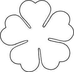 Love five petal template by BAJ - A flower template for a five petal flower with heart shaped petals. Giant Paper Flowers, Felt Flowers, Diy Flowers, Fabric Flowers, Paper Butterflies, Paper Flower Patterns, Paper Flower Tutorial, Paper Flower Templates, Owl Templates