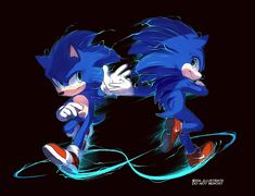 """I've just wanted to draw old sonic design"""" Hedgehog Movie, Hedgehog Art, Sonic The Hedgehog, Silver The Hedgehog, Shadow The Hedgehog, Sonic Fan Characters, Anime Characters, Sonic The Movie, Sonic Unleashed"""