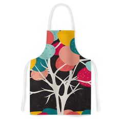 Kess InHouse Danny Ivan 'Lovely Tree' Branches Artistic Apron