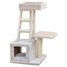 Tunnel and platforms provide a place to lounge and climb. Multiple scratching posts and ladders provide an outlet for your cat's natural scratching and climbing needs.