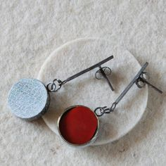 JP Earrings in White and Red by mardecoLorrosa on Etsy, €29.00