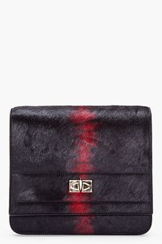 GIVENCHY Black Pony hair Flap Bag - just fabulous!!