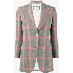 Gucci embroidered check jacket (44.975 ARS) ❤ liked on Polyvore featuring outerwear, jackets, embroidered jacket, multi colored jacket, checkered jacket, long sleeve jacket and colorful jackets