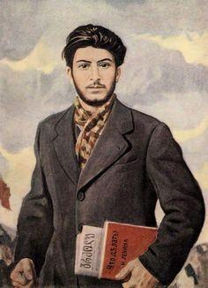 "Картина Ираклия Тоидзе «Молодой Сталин» / Painting by Irakli Toidze - ""Young Stalin"" Soviet Art, Soviet Union, In Soviet Russia, Joseph Stalin, Contemporary History, Socialist Realism, Power To The People, Male Beauty, Poster"