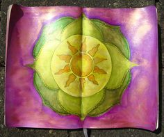 My art journal. (20120429) Om Namah Shivaya....  Used materials: Twinkling H2O's, stamp ink and a Micron Pen