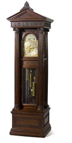 <i>Waltham/Durfee</i> Mahogany Tall Case Clock, (2007, Clock & Watch Auction, April 12th)