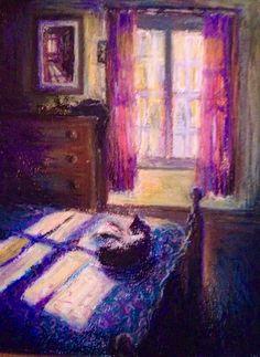 The Bedroom study, pastel. Pastel, Study, Artists, Bedroom, Drawings, Painting, Pie, Studio, Artist