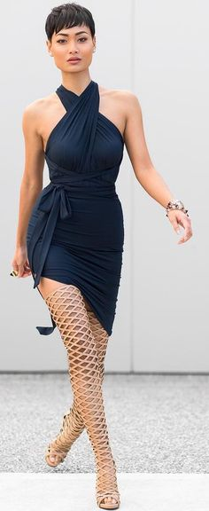 Click Image For All The Secrets To Attract Women! Navy And Nude Chic Outfit Idea by Micah Gianneli