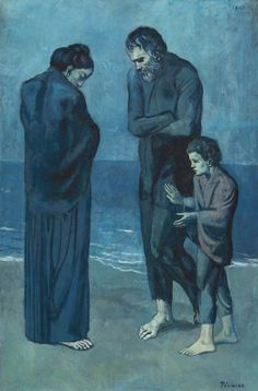 """Poor People On The Seashore 101 By Picasso. If Picasso was alive he would call it """" Syrian refugees at the seashore"""" Kunst Picasso, Art Picasso, Picasso Paintings, Henri Matisse, Henri Rousseau, National Gallery Of Art, Kunst Online, Online Art, Cubist Movement"""