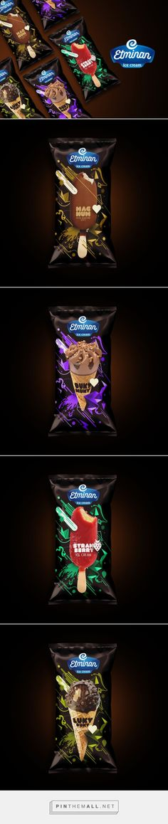 Etminan Ice Cream         on          Packaging of the World - Creative Package Design Gallery - created via https://pinthemall.net