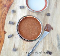 Homemade Chocolate Coconut Butter.  This stuff is to die for.  Easy recipe that is great as a spread, fruit dip or you can just eat it with a spoon.  Vegan, gluten free and paleo.