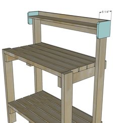 Ideas Diy Garden Bench Plans Ana White For 2019 Outdoor Potting Bench, Pallet Potting Bench, Potting Tables, Garden Bench Plans, Garden Shed Diy, Diy Garden Table, Garden Ideas, Garden Pots, Pallet Furniture