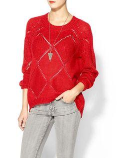 Piperlime | Diamond Drop Mohair Sweater