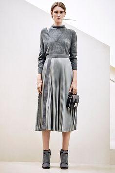 Christopher Kane металлическая плиссированная юбка