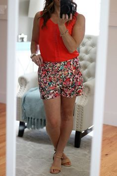 Stitch Fix Review May 2016 - I Kept It All! Collective Concepts Myrah Floral Printed Short