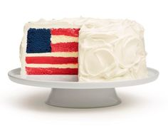 Make sure you have an audience when you cut into this Fourth of July dessert: each slice is a cake-and-ice-cream flag!