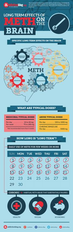 Long Term Effects Of Meth On The Brain Infographic