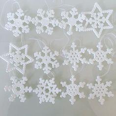 Snowflakes hama beads by heidibirkelund