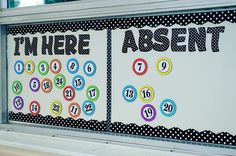 Use Magnetic Accents & Magnetic Letters to keep track of classroom attendance