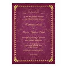 DealsDark raspberry and gold elegant wedding invitationThis site is will advise you where to buy