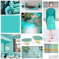 COLOR FOCUS - TIDAL  Inspired by the seas and the oceans Tidal is a clean yet soft aqua green color. Slightly retro in feel this hue is great with a little touch of mineral sheen. @lanarkwallcovering  Posted by On Trend Today Kathy Wisniski #InspiredByTheSeas #AquaGreen
