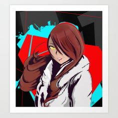 Shadow Mitsuru - Persona 4 Arena Ultimax by on DeviantArt Make Your Own Poster, Buy Posters, Buy Prints, Buy Frames, Printing Process, Gallery Wall, Deviantart, Face, Artist