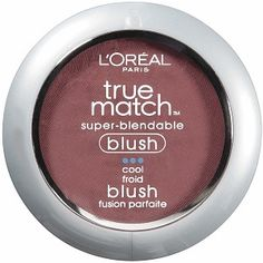 """L'Oreal Paris True Match Super-Blendable Blush, Spiced Plum: Obviously I am not a fan of L'Oreal's """"true match"""" line--mainly because the colors don't seem to match! This blush is not blendable, but rather very bright. The one time I applied a """"normal"""" amount, someone said I looked very... flushed. It's possible that I chose a shade too dark, but I've worn a similar blush color in the past that was very beautiful. Also, at nearly $12, this is quite expensive for drugstore blush."""